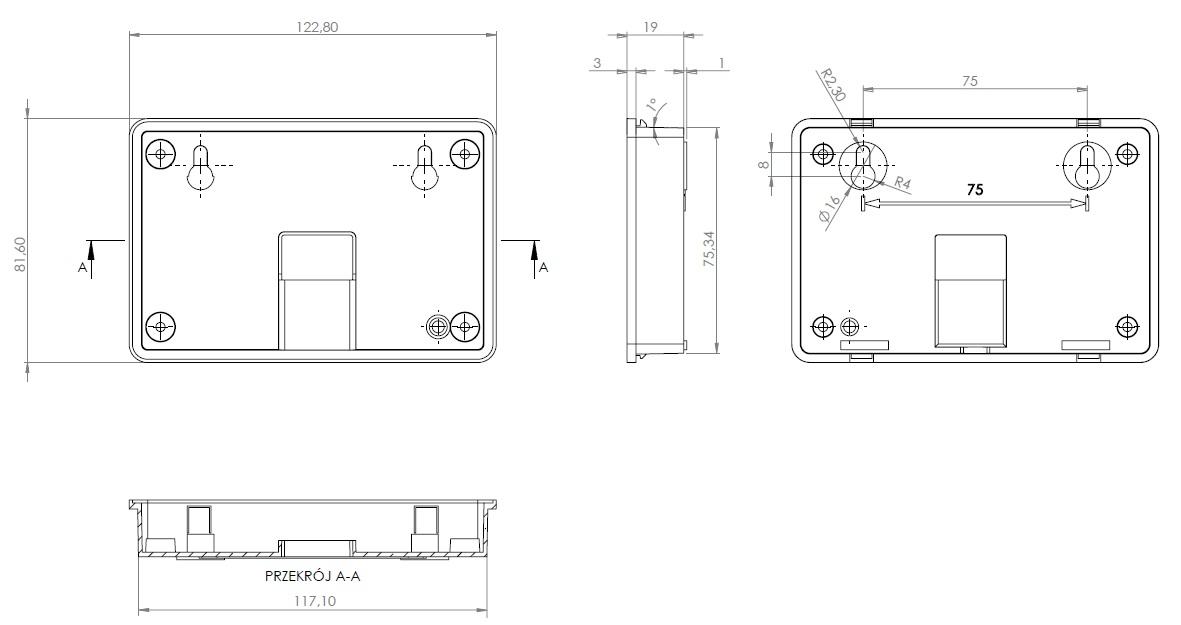 Zdjęcie dodatkowe produktu Panel LCD CD2 4.3